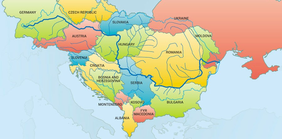 Danube River Map Of Europe.Severe Annual Investment Gap For Water Services In Danube Water