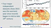 New American report shows global temperature rises again in 2015