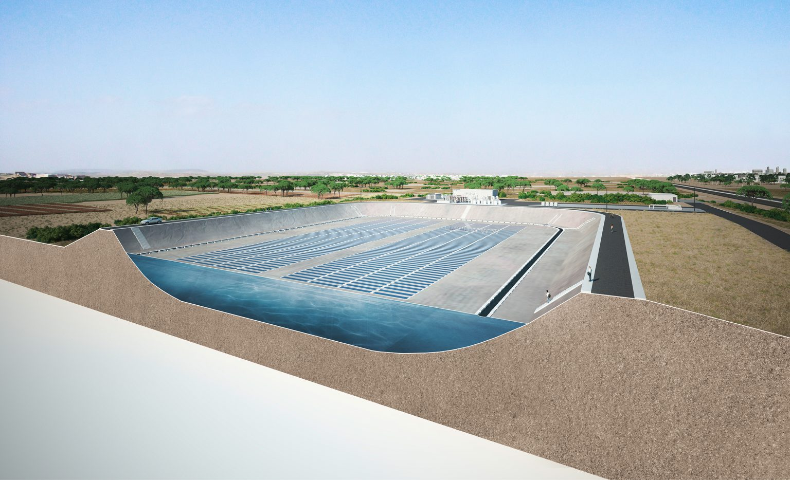 New technology prevents evaporation and generates energy