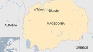 Map Tetovo Skopje