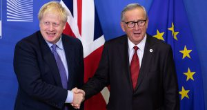 Johnson on Juncker agreed on 17 October to postpone Brexit to 31 January 2020. Photo: Lejeune Xavier