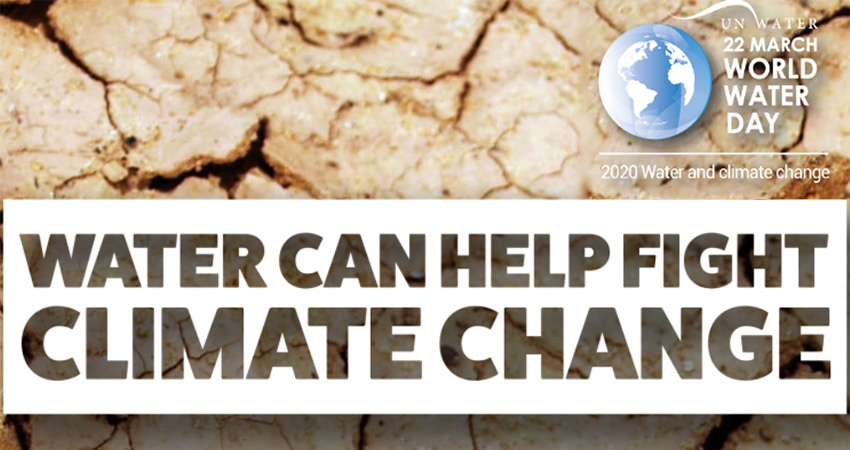 The theme for World Water Day 2020 is 'Water and Climate Change – Accelerating Action'
