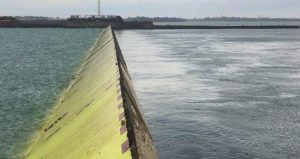 MOSE flood barrier withstands fire test