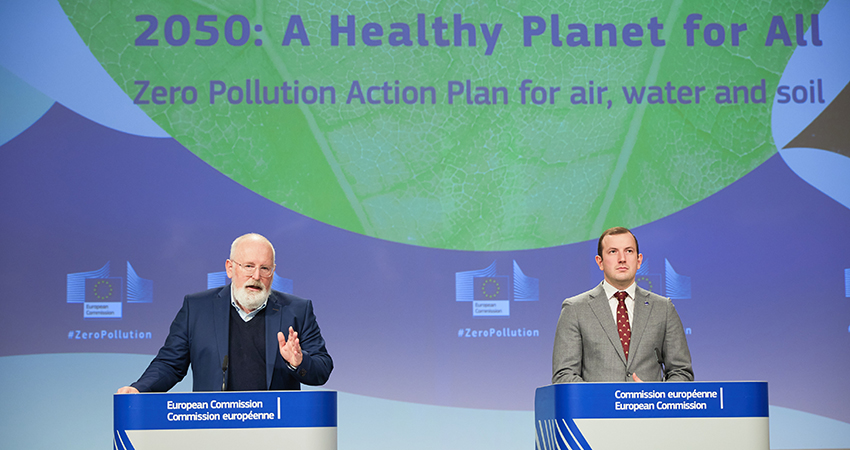 European Commission steps up towards zero pollution in 2050